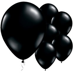 "Onyx Black Balloons - 11"" Latex"