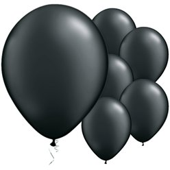 "Onyx Black Pearl Balloons - 11"" Latex"