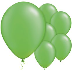 "Lime Green Pearl Balloons - 11"" Latex"