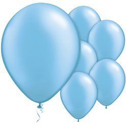 "Azure Blue Balloons - 11"" Latex"