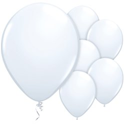 "White Balloons - 11"" Latex"