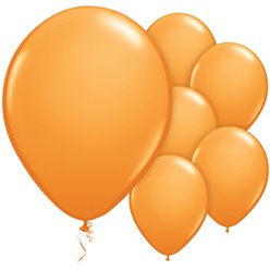 "Orange Balloons - 11"" Latex"