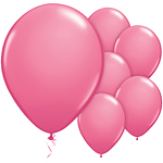 "Rose Pink Balloons - 11"" Latex"