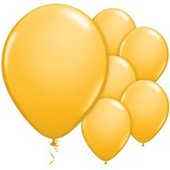 "Goldenrod Balloons - 11"" Latex"