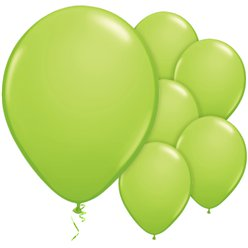 "Lime Green Balloons - 11"" Latex"