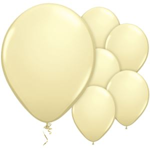 Ivory Silk Balloons - 11'' Latex