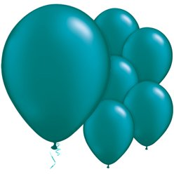 "Teal Pearl Balloons - 11"" Latex"