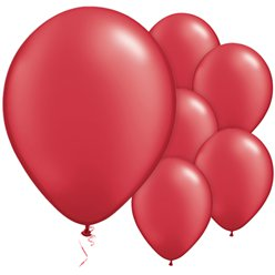 "Ruby Red Pearl Balloons - 11"" Latex"