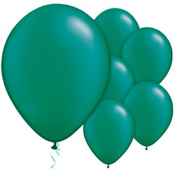 "Emerald Green Pearl Balloons - 11"" Latex"