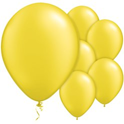 "Citrine Yellow Pearl Balloons - 11"" Latex"