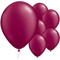 "Burgundy Pearl Balloons - 11"" Latex"