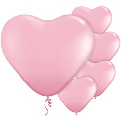 "Pink Heart Balloons - 11"" Latex"