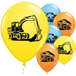 Construction Trucks Balloons - 11