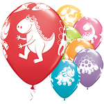 "Cute & Cuddly Dinosaurs Balloons - 11"" Latex"