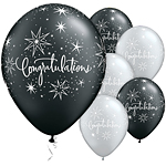 "Congratulations! Elegant Design Balloons - 11"" Latex"