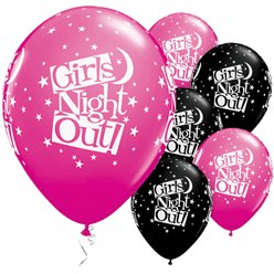 "'Girls Night Out!' Stars Balloons - 11"" Latex"
