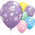 "Baby's Nursery Assorted Balloons - 11"" Latex"