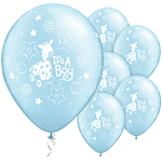"It's a Boy Soft Giraffe Balloons - 11"" Latex"