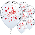 "Cards & Dice Balloons - 11"" Latex"