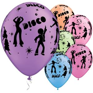 "Disco Assorted Balloons - 11"" Latex"