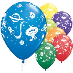 Aliens & Spaceships Balloons Assortment - 11