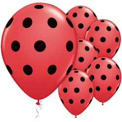 Red & Black Polka Dots Balloons - 11