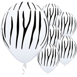 "Zebra Stripes Balloons - 11"" Latex"