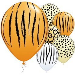 "Safari Assorted Balloons - 11"" Latex"