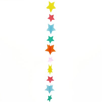 Multi Coloured Stars Balloon Tail - 1.2m