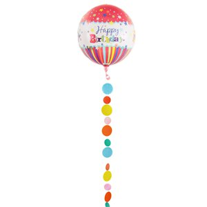 Multicoloured Circles Balloon Tail - 1.2m