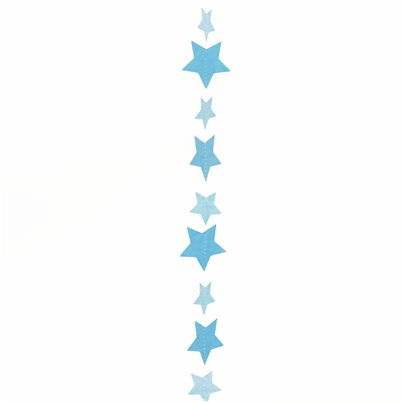 Blue Stars Balloon Tail - 1.2m