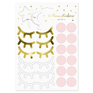 Lashes Cute Face Sticker Sheets