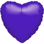 "Purple Heart Balloon - 18"" Foil - unpackaged"