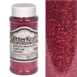 Burgundy Balloon Glitter - 100g