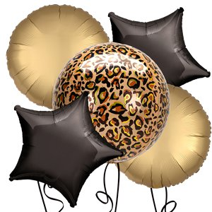 Leopard Orbz Foil Balloon Kit