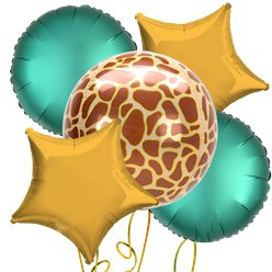 Giraffe Orbz Foil Balloon Kit