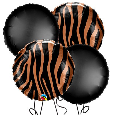 Tiger Round Foil Balloon Kit