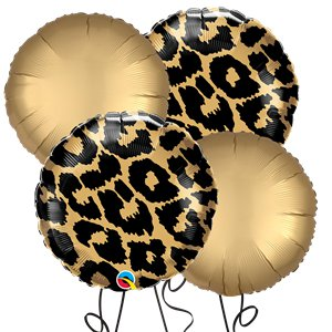 Leopard Round Foil Balloon Kit