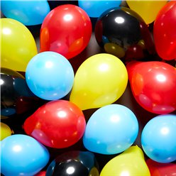 "Superhero Mini Balloons Pack - 5"" Latex"