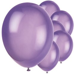 "Midnight Purple Balloons - 12"" Latex"