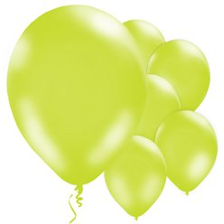 Lime Green Metallic Balloons - 11'' Latex
