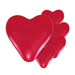 Mini Red Heart Valentine's Balloons - 8