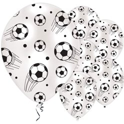 Football Print Balloons - 11'' Latex