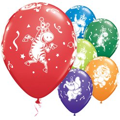 Party Animals Balloons - 11'' Latex