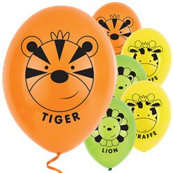 Jungle Friends Latex Balloons - 11""