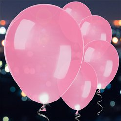 Pink Latex LED Balloons - 11