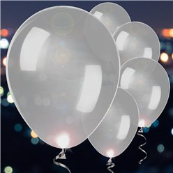 Silver Latex LED Balloons - 11