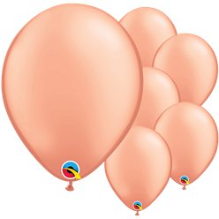Rose Gold Latex Balloons - 11""
