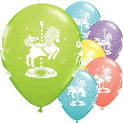 Sorbet Assorted Carousel Horses Balloons - 11