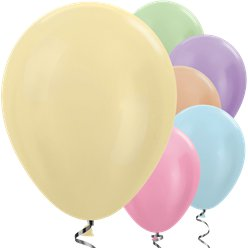 Multi-coloured Satin Balloons - 12